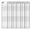 Attendance and Classwork Tracker/Organizer