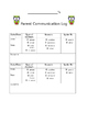 Attendance and Communication Form