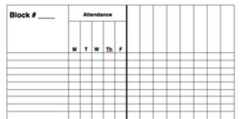 Attendance and Gradebook Weekly Template