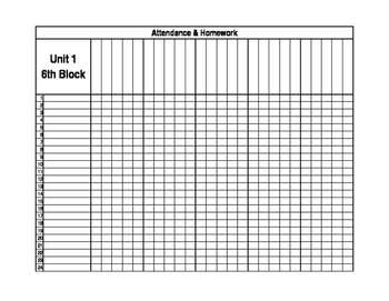 Attendance and Homework Record Keeping - Classroom Management