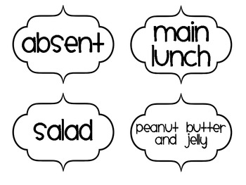 Attendance and Lunch Choices