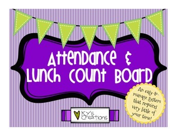 Attendance and Lunch Count Board