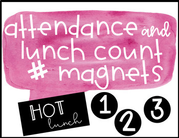 Attendance and Lunch Count Number Magnets