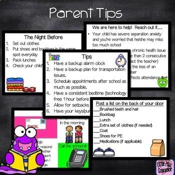 Attendance & Parents: Prevention & Intervention Editable Bundle