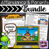 Attendance & Parents: Prevention & Intervention Editable Bundle