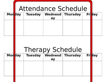 Attendance and Therapy Schedule