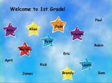 Back to School Star Attendance flipchart (28 students)