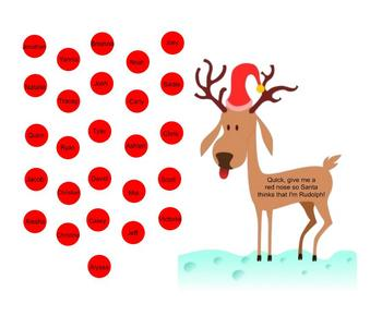 Attendance on the Smartboard ~ Rudolph Theme