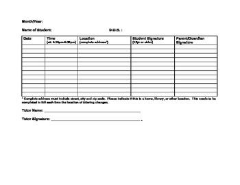 Attendence Sheet for teacher or tutors