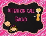Attention Call Back Posters