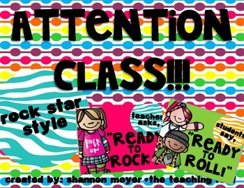 Attention Class- Rock and Roll Style