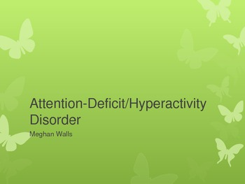 Attention Deficit/Hyperactivity Disorder and Cognitive Behavior Therapy