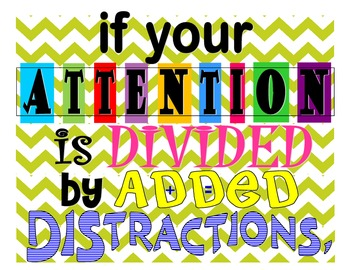 Attention Distraction (Math Poster)