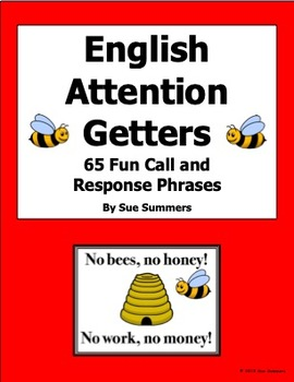 Attention Getters / Grabbers PowerPoint / Signs-65 Fun Call and Response Phrases