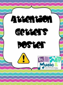 Attention Getters Poster