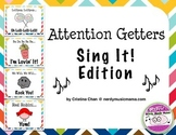 Attention Getters Sing It Bulletin Board Posters