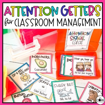 Attention Getters - a positive way to regain students' attention (Editable)