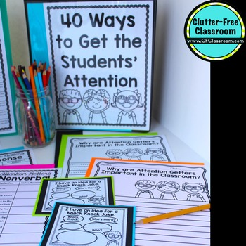 Attention Getters : Attention Getting Classroom Management Strategy Bundle