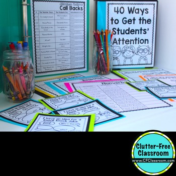 Attention Getters : Attention Getting Classroom Management Strategy Resources