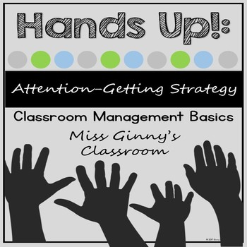 Attention Getting Strategy Posters Classroom Management