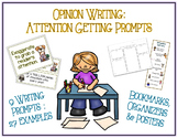 Attention Grabber Prompts for Kids - 9 Types - 27 Prompts - Opinion Writing