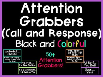 Attention Grabbers (Call and Response) (Black and Colorful Series)