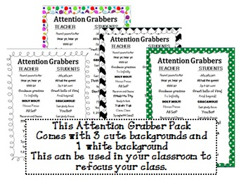 Attention Grabbers Pack