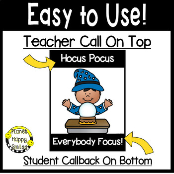 Attention Getters or Classroom Callbacks