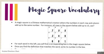 Attention-Grabbing Vocabulary Strategy: Magic Square with Three Templates