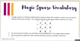 Attention-Grabbing Vocabulary Strategy: Magic Square with