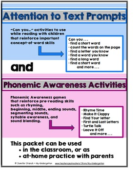 Attention to Text Prompts and Phonemic Awareness Activities