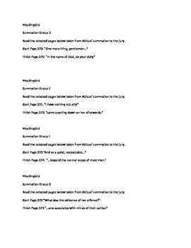 Atticus' summation to the jury