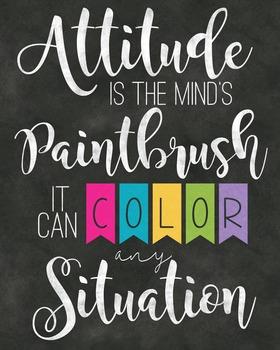 Attitude Classroom Poster