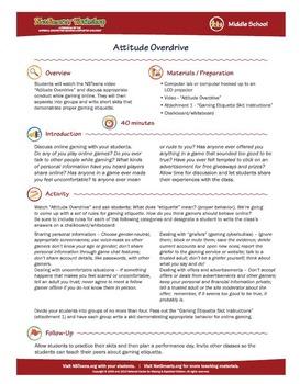 Attitude Overdrive; Online Gaming Etiquette