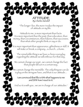Attitude Poster with Music Border