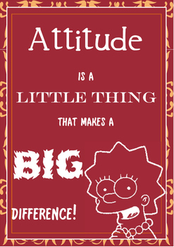 Attitude Poster - Simpsons Theme