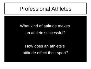 Attitude & Professional Athletes