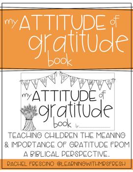 Attitude of Gratitude Booklet