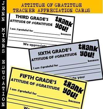 Attitude of Gratitude Cards Printable