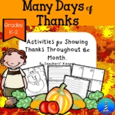 Attitude of Gratitude: Many Days of Thanks