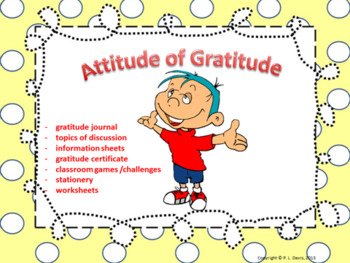 Attitude Of Gratitude Teaching Resources Teachers Pay Teachers