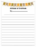 Attitude of Gratitude Writing Template