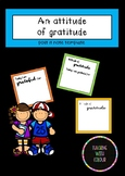 Attitude of gratitude - Post it note template