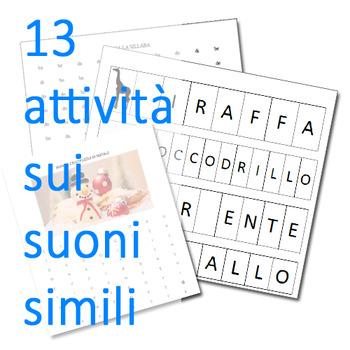 Attività per chi confonde lettere e suoni simili (b/d, p/b, f/v)