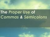 Attractive Comma and Semi-Colon Power Point
