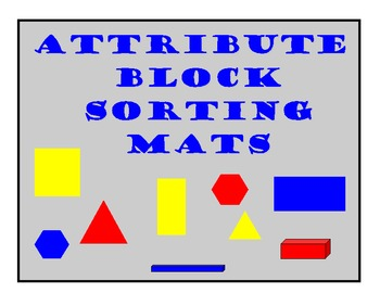 attribute block sorting mats by sunflower inspirations tpt. Black Bedroom Furniture Sets. Home Design Ideas