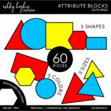 Attribute Blocks Clipart {A Hughes Design}