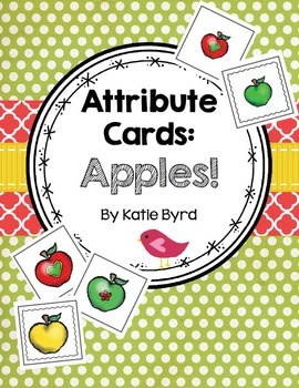 Attribute Cards - Apples!  Tools for Comparing and Classif