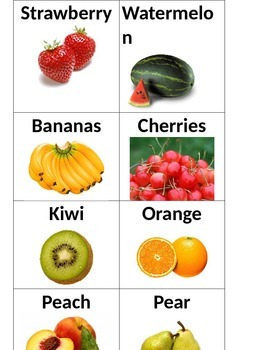 Attribute Category Game - Fruit