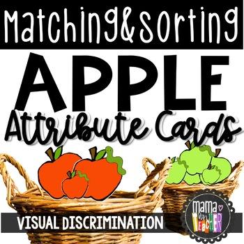 Attribute Sorting: Apple Sorting Math Center {Prek-1}